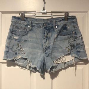 Graphic American Eagle Shorts